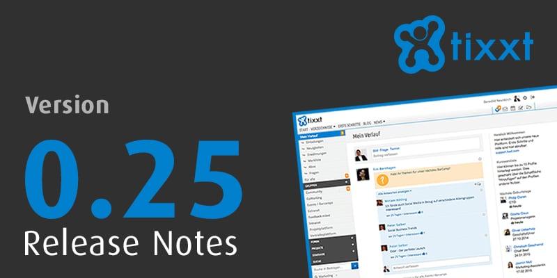 Release Notes v0.25