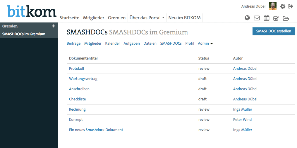 SMASHDOCs Integration in tixxt