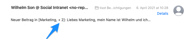 E-Mail Betreff bei Benachrichtigungen